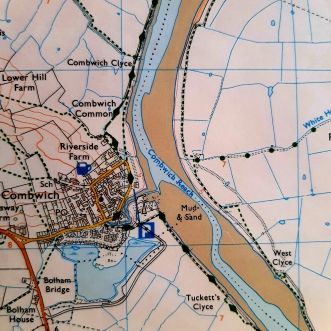 Detail of an Ordnance Survey map