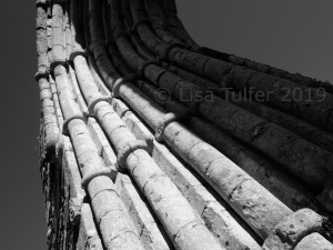 Mono photograph of detail of west doorway, Strata Florida Abbey