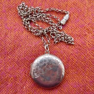 Image of silver locket.