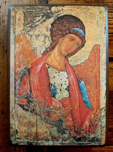 Photograph of an Orthodox Christian icon of St Michael the Archangel